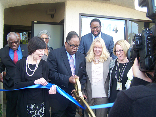 Administrators, friends, and supporters of the Westside Mental Health Urgent Care Center join County Supervisor Mark Ridley-Thomas in ribbon-cutting ceremony for new facility on Dec. 7.