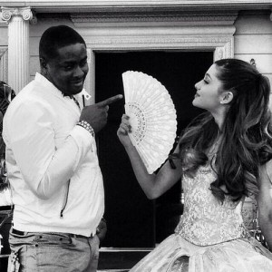 All smiles- Samuels and Pop-star Ariana Grande pose for a picture. (courtesy photo BOE Global)