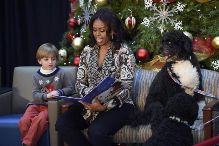 Michelle Obama, Stephen Orzechowski, Bo Obama