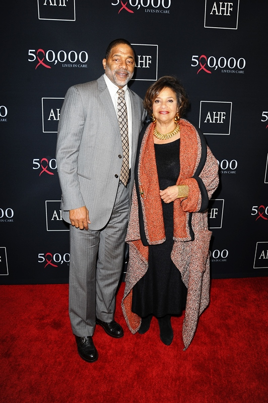 Norm Nixon and Debbie Allen attend