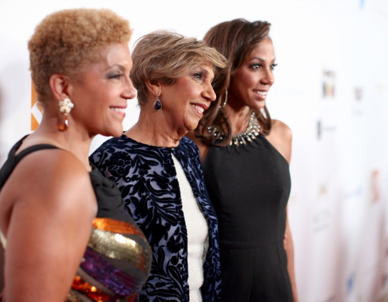 JPC Chairman Linda Johnson Rice, Valerie Robinson and Holly Robinson-Peete pose on the red carpet. (Ebony photo)