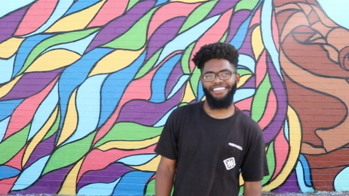Mural contributor Lonnie Wade talks growing up near the once desolate area on 54th and Crenshaw.