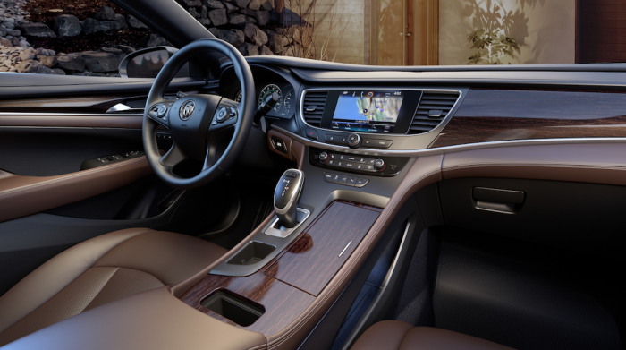 Interior of the new Buick LaCrosse. (courtesy of Buick)