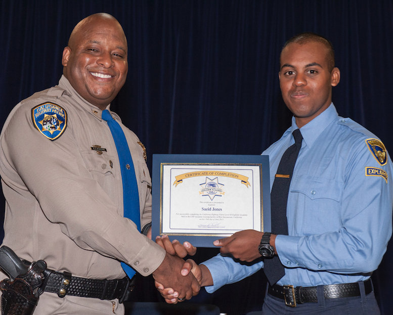 "California Highway Patrol Explorer Program: ""Start young and"