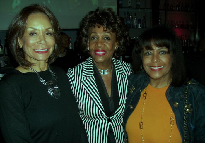 Singer Freda Payne, Rep. Waters and Scherrie Payne