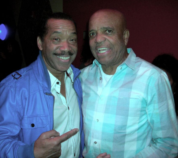 (L) actor Obba Babatunde who played the role of Berry Gordy in The Temptations movie, and Gordy himself.