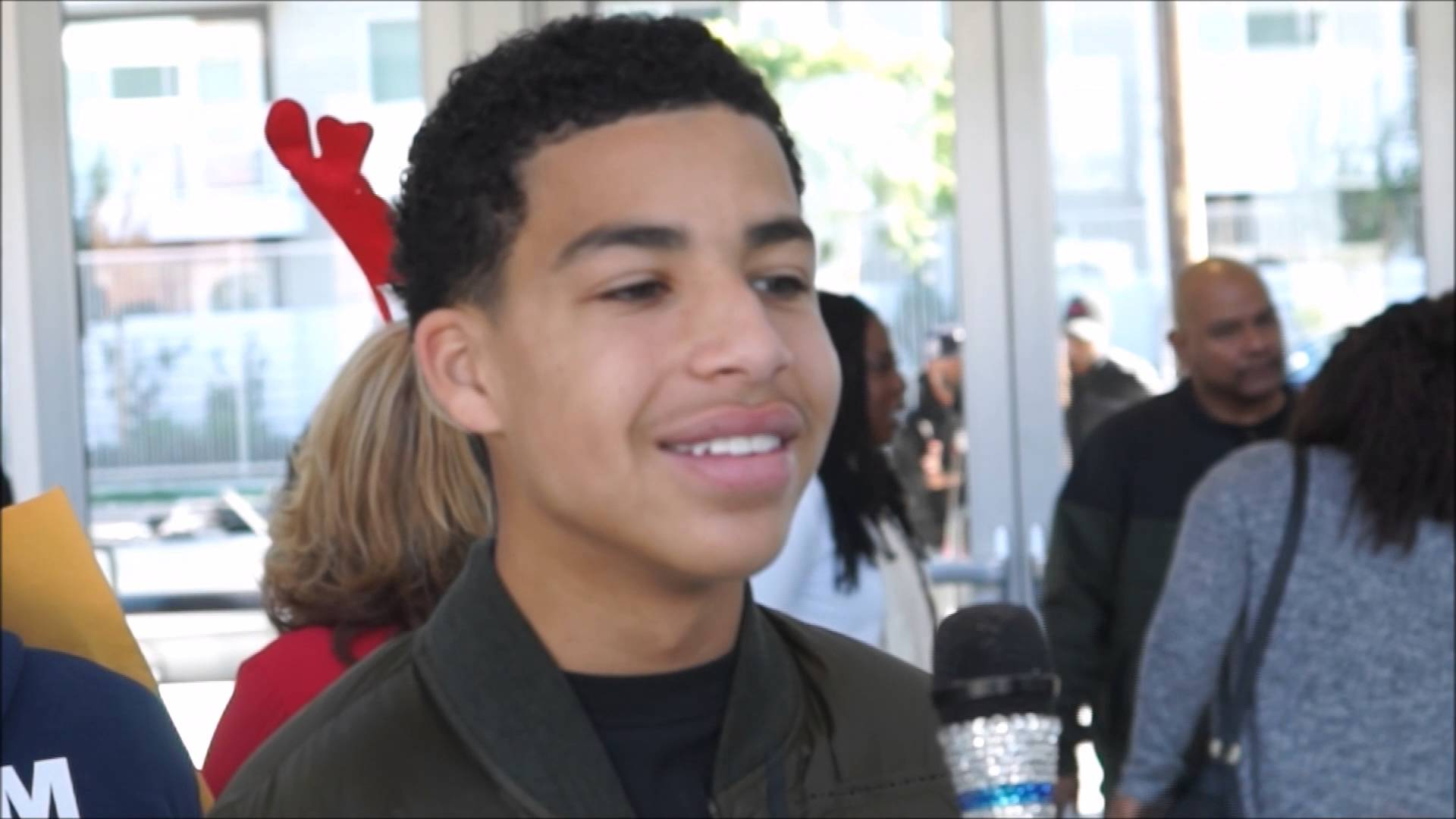 Compton Christmas Parade 2019 Marcus Scribner Actor   Blackish at the Compton Christmas Parade