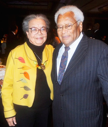 Marian Wright Edelman and Reverend James M. Lawson, Jr. (photo by Joseph Luckett and Jules Green)