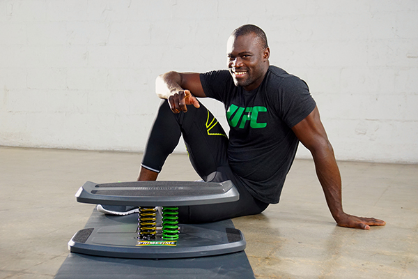 MMA Fighter Uriah Hall (Courtesy of StrongBoard Balance)