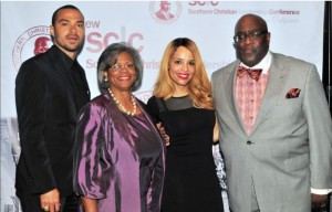 1Jesse Williams, actor/activist 2016 Drum Major for Justice Award Recipient; Alice Goff, Chairman SCLC-SC/President AFSCME 3090; Grammy-nominated singer, Antonique Smith; Pastor William D. Smart President & CEO, SCLC-SC Courtesy Photo