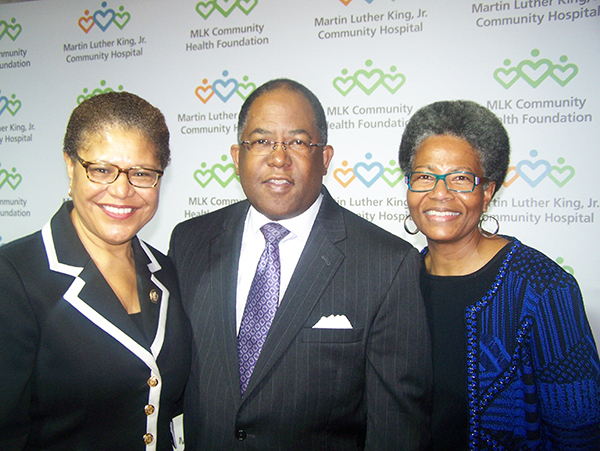 U.S.. Rep. Karen Bass; Los Angeles County Supervisor and honorary co-chair Mark Ridley-Thomas; and his wife, Avis Ridley-Thomas.