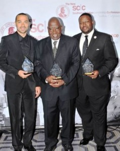 2Jesse Williams, actor/activist 2016 Drum Major for Justice Award Recipient; Activists Robert Singleton 2015 Rosa Parks Humanitarian Award Recipient and Rev. K. W. Tuloss, 2015 Rev. Dr. Thomas Kilgore, Jr. Prophetic Witness Award Recipient Courtesy Photo