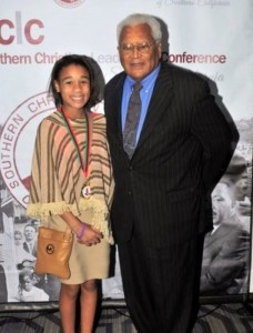 Maya Holland, the Youth Speech Contest Winner and Rev. Lawson Courtesy Photo