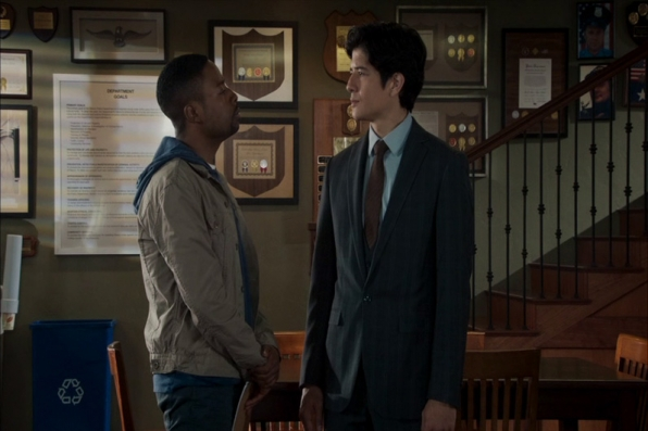 """A maverick detective from Los Angeles, Detective Carter (played by Justin Hires, left), and a by-the-book detective from Hong Kong, Detective Lee (played by Jon Foo, right)—are forced to work together in """"Rush Hour"""", based on the buddy films co-starring Chris Tucker and Jackie Chan."""