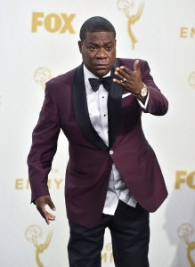 "In this Sept. 20, 2015, file photo, Tracy Morgan poses in the press room at the 67th Primetime Emmy Awards in Los Angeles. Morgan will officially launch his ""Picking Up the Pieces"" standup tour Feb. 5, 2016, at the Horseshoe Casino in Hammond, Ind., continuing through May.  (Photo by Jordan Strauss/Invision/AP, File)"
