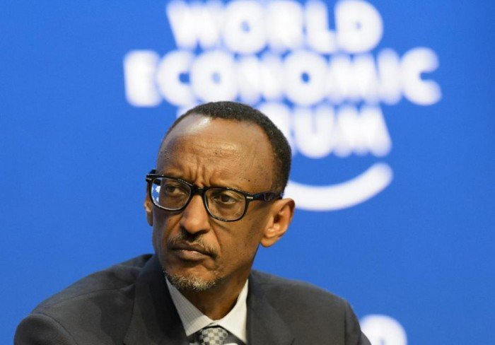 This is a Friday, Jan. 23, 2015 file photo of  President of Rwanda Paul Kagame as he attends a panel session at the World Economic Forum, WEF, in Davos, Switzerland.  Rwandan President Paul Kagame declared Friday Jan. 1, 2016 that he will run for a third term in office after his second seven-year term expires in 2017, a move opposed by the U.S., a key ally. (AP Photo/Keystone, Jean-Christophe Bott, File)