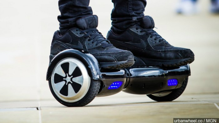 Beginning Monday January 4, hoverboards and other self- balancing electronic devices will not be permitted aboard Metrolink trains, according to the Southern California commuter railroad. ``This is a proactive step we've taken to ensure the safety of our passengers,'' Metrolink spokeswoman Sherita Coffelt told City News Service last week. (AP file photo)