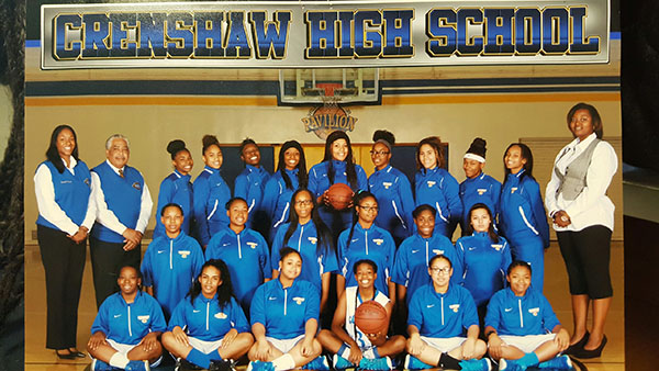 The Crenshaw Girls Basketball Team for the 2014-2015 season (Courtesy of Valerie Agee)