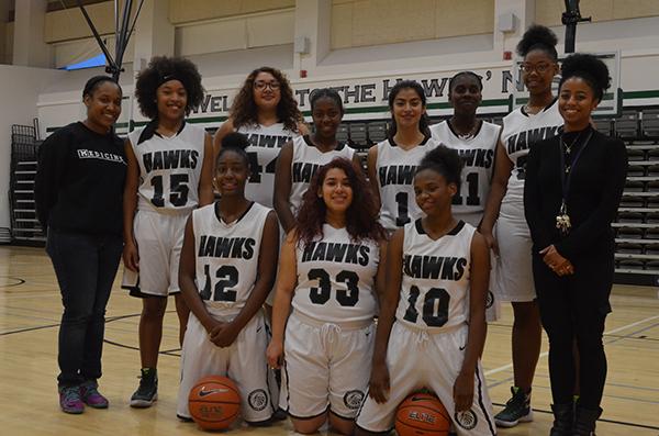 The Augustus Hawkins Girls Basketball Team plays California Division III Basketball (Amanda Scurlock/ LA Sentinel)
