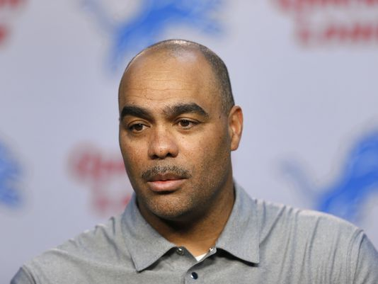 Detroit Lions defensive coordinator Teryl Austin speaks during a news conference in Allen Park on March 11, 2015. (Photo: Paul Sancya Associated Press)