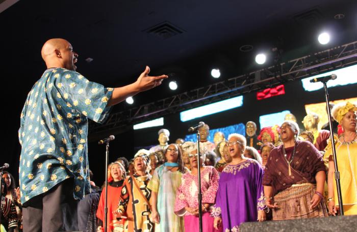 Choir performing during program.