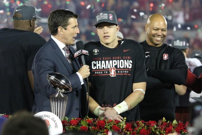 Running Back Christian McCaffrey Named Offensive MVP of Rose Bowl