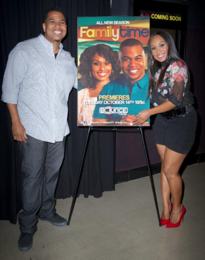 ": Omar Gooding & Angell Conwell, stars of Bounce TV original series, ""Family Time""."