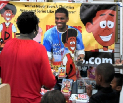 "Animator Horace Christian, Jr., tells a parent and children about his many entertaining products featuring ""Dex Davis - Child of God."""