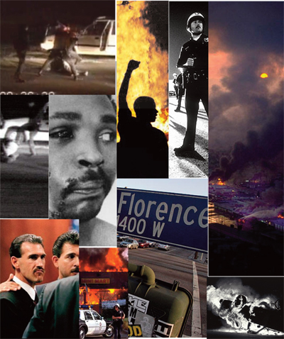 "The Rodney King Riot of 1992 occurred in Los Angeles, California in response to a highly publicized incident of police brutality.  Rodney King, who had worked as a Dodgers Stadium usher, was arrested on charges of speeding, driving while intoxicated, and failing to yield.  The four responding police officers claimed that King had been high on drugs and was trying to attack them, prompting the police to beat him on the grounds of self-defense.  An amateur photographer, George Holliday, was standing nearby and captured the attack on film.  The four officers were brought to court and tried on charges of assault. At 3:00 p.m. on the day of April 29, 1992, the four police officers were acquitted of the assault charges.  The riot started soon after the announcement.  Around 4:15 p.m, a little over an hour after the acquittal was delivered, there were reports of looting in South Central Los Angeles.  By 5:45 p.m. there were numerous reports of motorists being assaulted in the streets and by 8:15 that evening, the first fatality was reported in the news. Rioting occurred throughout the next few days, with the heaviest damage done in the South Central district of Los Angeles and ""Koreatown,"" which was located between black neighborhoods and Hollywood.  Koreans became the eventual targets of the rioting, as minorities claimed they mistreated both Latino and African American customers in their stores. The rioting finally came to a halt on May 2, 1992 when 10,000 National Guardsmen, 3,500 military personnel, and the entire Los Angeles Police Department were deployed to the South Central district.  When all of the rioting was finally stopped, over 51 people were killed, 2,383 people were injured, 8,000 people were arrested, and over 700 businesses were burned.  Damages were estimated at about $1 billion to property."