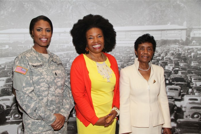 (l-r) Chaplin/Pastor Omarosa Maigault, S. Sylvia Pullen, founder Girls Fly! and Judge Consuelo Bland Marshall.