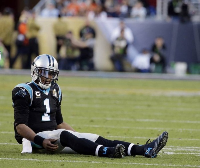 Panther QB Cam Newton Had a Tough Day.  Photo:  Associated Press