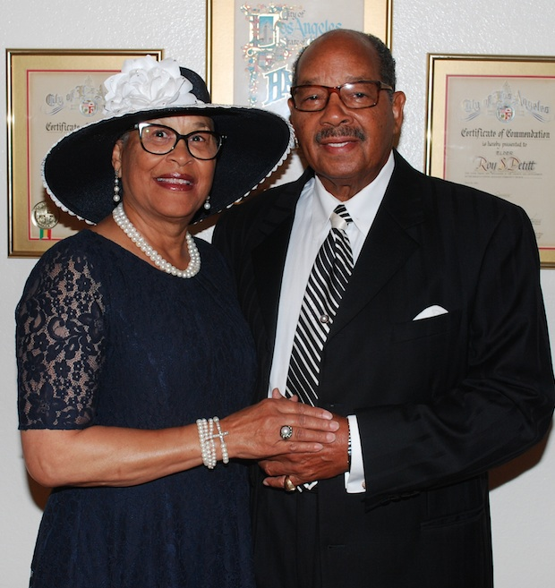 Suffragan Bishop Roy S. Petitt and Dr. Bennie R. Petitt (photo by Marilyn Millman)