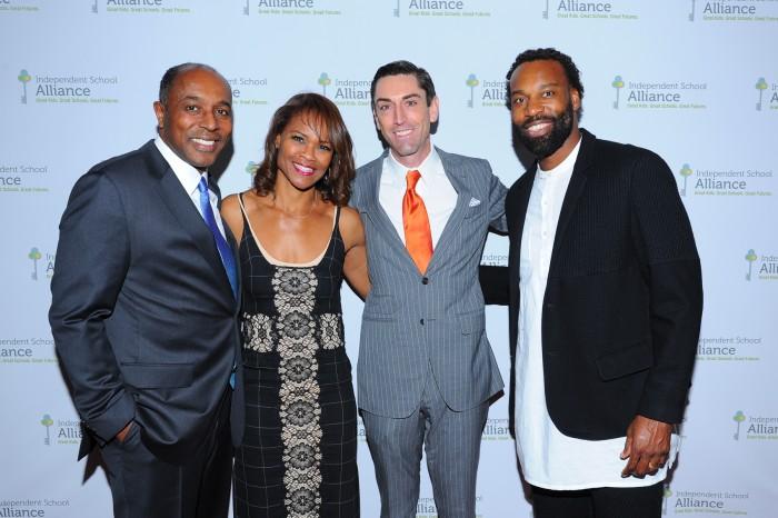 Impact Award honorees Jeffrey and Maria Harleston, Joshua Hamilton and Baron Davis (courtesy photo)