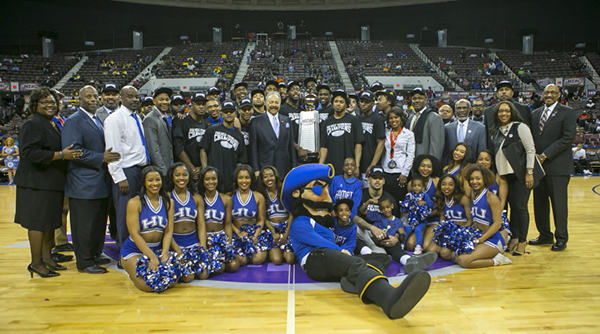During the 2016 MEAC Men's and Women's Basketball Championships at the Scope Arena in Norfolk, Virginia.  March 12, 2016.  (Photo by Mark W. Sutton)