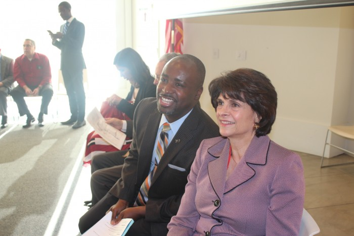 LA City Councilman Marqueece Harris-Dawson and Congresswoman Lucille Roybal-Allard (Courtesy Photo)