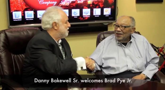 Danny Sr  & Brad Pye shake hands