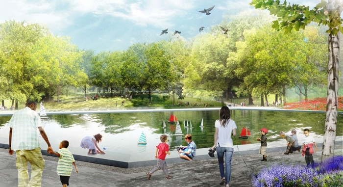 One of a few renderings of the reimagining of Magic Johnson Park Courtesy Photo