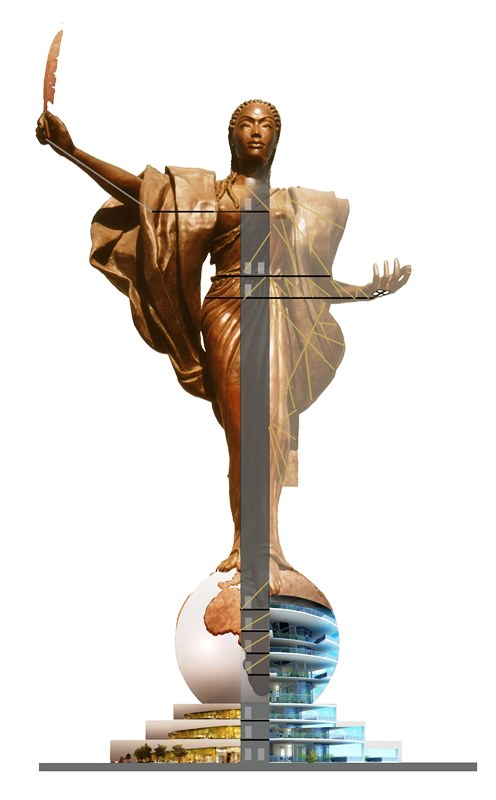 The Mother of Humanity® Monument will be a 95 meter tall observation tower to rival the Statue of Liberty Courtesy Photo