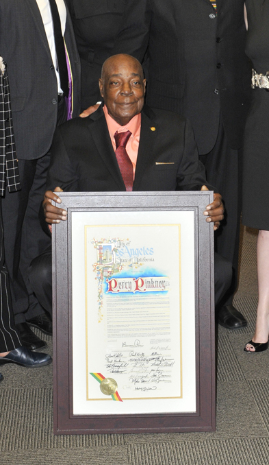 Percy Pinkney Honored by City of LA