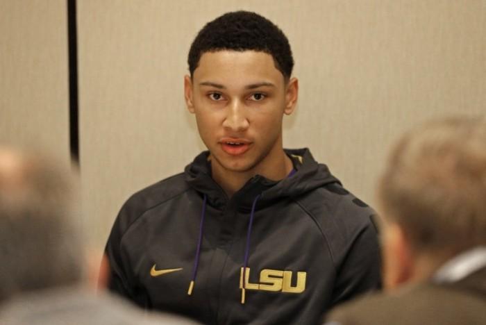 NBA talent evaluators are already eyeing LSU's Ben Simmons. (Chuck Burton/AP Photo)