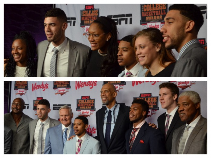 Finalists and award winners got a chance to meet the basketball players the awards were named after. (Amanda Scurlock/ L.A. Sentinel)