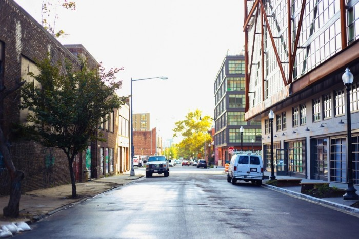 A street in the Shaw neighborhood shows the contrast between the old and new in Washington, D.C. (Photo: Kaylah Waite/TruthBeTold.news)
