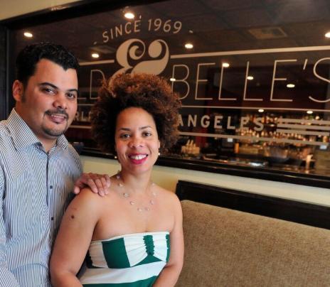 Ryan Legaux & Jessica Taylor Legaux, owners of Harold & Belle's restaurant. (Valerie Goodloe/LA Sentinel)