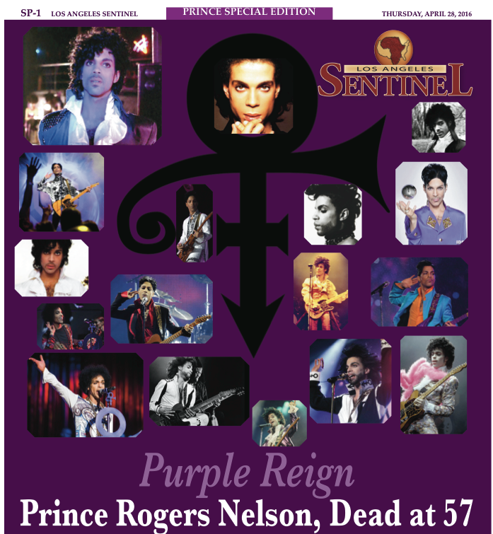Purple Reign Prince Rogers Nelson, Dead at 57 - Los Angeles