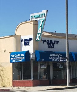 "In about eight days, tax season for most working Americans will be coming to a close. For the stragglers, or as local business owner Dwayne Harrison Jr. calls them, the ""end of seasoners"", the professionals at Quality Tax Service in Inglewood are offering their help. (courtesy photo)"