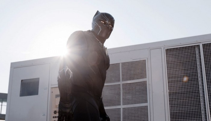 "This image released by Disney shows Chadwick Boseman as Panther in a scene from ""Marvel's Captain America: Civil War."" (Disney Marvel via AP)"