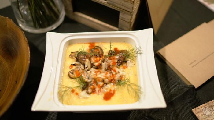Southern gouda cheese grits topped with mushrooms. Courtesy Photo