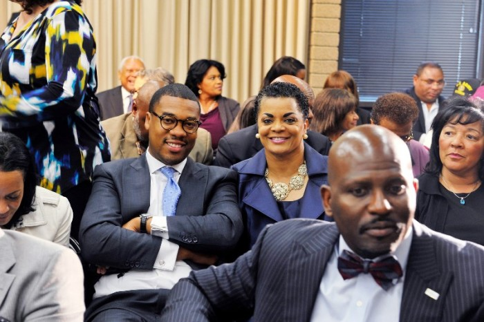 Attendees included Pastor Shane B. Scott of Macedonia Baptist Church, Pastor Rosalynn K. Brookins of Walker Temple AME Church and Brian Williams of Ward AME Church were among many members of the faith community in attendance Courtesy Photo
