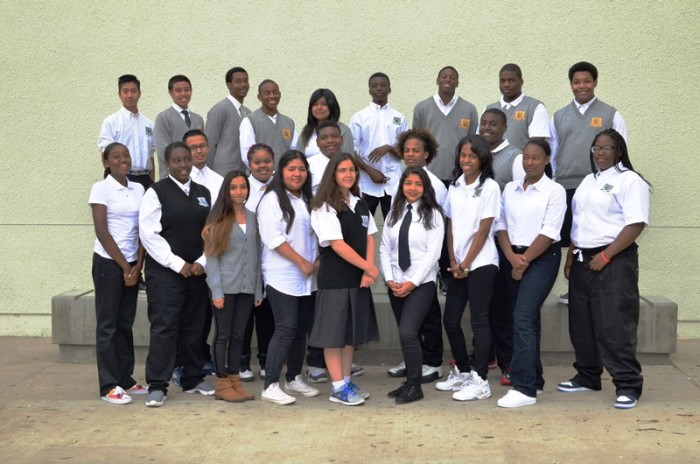 Dorsey High School's Math Science Technology and Engineering Magnet students Photo credit: Mother Of Many