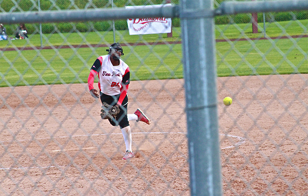 Freshman sensation and Ocean League Pitcher of the Year, Janelle Brown, finished with 14 strikeouts, and five walks, in a five-hitter that helped View Park Prep High School win a CIF LA City Section Softball Championship in the team's first year competing in the sport, on May 21,  2016, Cal State Dominguez Toro Field (Staff photographer, E. Mesiyah McGinnis)